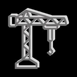 Ikona dźwigu budowlanego