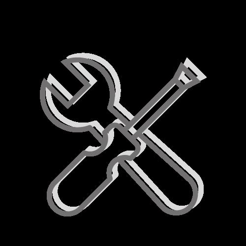 Ikona narzędzi budowlanych